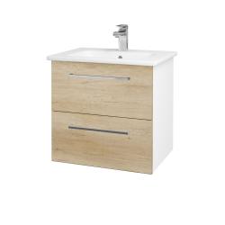 Dreja - Kúpeľňová skriňa GIO SZZ2 60 - N01 Bílá lesk / Úchytka T04 / D15 Nebraska (173715E)