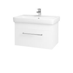 Dreja - Kúpeľňová skriňa Q UNO SZZ 70 - N01 Bílá lesk / Úchytka T04 / L01 Bílá vysoký lesk (20029E)