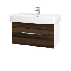 Dreja - Kúpeľňová skriňa Q UNO SZZ 80 - N01 Bílá lesk / Úchytka T04 / D06 Ořech (20111E)