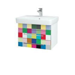 Dreja - Kúpeľňová skriňa Q ZÁSUVKOVÉ SZZ2 60 - N01 Bílá lesk / Úchytka T04 / IND Individual (20159E)