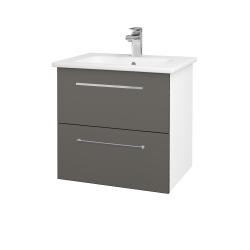 Dreja - Kúpeľňová skriňa GIO SZZ2 60 - N01 Bílá lesk / Úchytka T04 / N06 Lava (202071E)