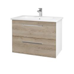 Dreja - Kúpeľňová skriňa GIO SZZ2 80 - N01 Bílá lesk / Úchytka T04 / D17 Colorado (202194E)