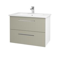 Dreja - Kúpeľňová skriňa GIO SZZ2 80 - N01 Bílá lesk / Úchytka T04 / M05 Béžová mat (202217E)
