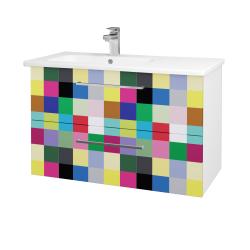 Dreja - Kúpeľňová skriňa GIO SZZ2 90 - N01 Bílá lesk / Úchytka T04 / IND Individual (202613E)