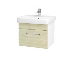 Dreja - Kúpeľňová skriňa Q UNO SZZ 55 - N01 Bílá lesk / Úchytka T04 / D04 Dub (20265E)