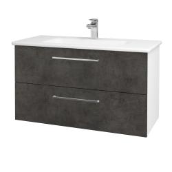 Dreja - Kúpeľňová skriňa GIO SZZ2 100 - N01 Bílá lesk / Úchytka T04 / D16 Beton tmavý (202798E)