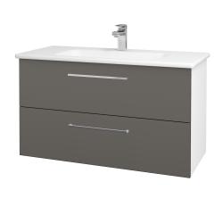 Dreja - Kúpeľňová skriňa GIO SZZ2 100 - N01 Bílá lesk / Úchytka T04 / N06 Lava (202842E)