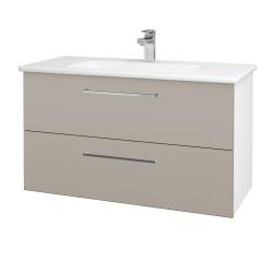 Dreja - Kúpeľňová skriňa GIO SZZ2 100 - N01 Bílá lesk / Úchytka T04 / N07 Stone (202859E)