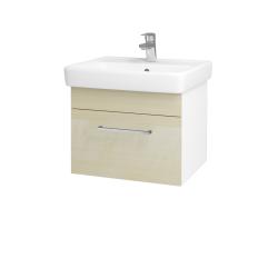 Dreja - Kúpeľňová skriňa Q UNO SZZ 55 - N01 Bílá lesk / Úchytka T04 / D02 Bříza (20289E)
