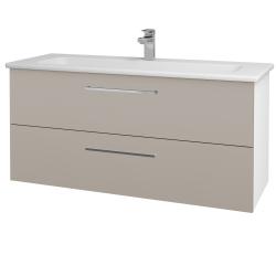 Dreja - Kúpeľňová skriňa GIO SZZ2 120 - N01 Bílá lesk / Úchytka T04 / N07 Stone (203016E)