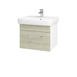 Dreja - Kúpeľňová skriňa Q UNO SZZ 55 - N01 Bílá lesk / Úchytka T04 / D05 Oregon (20302E)