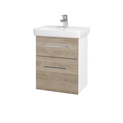 Dreja - Kúpeľňová skriňa GO SZZ2 50 - N01 Bílá lesk / Úchytka T04 / D17 Colorado (204518E)