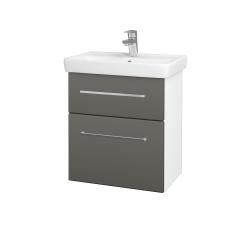 Dreja - Kúpeľňová skriňa GO SZZ2 55 - N01 Bílá lesk / Úchytka T04 / N06 Lava (204730E)