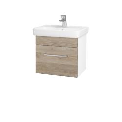 Dreja - Kúpeľňová skriňa SOLO SZZ 50 - N01 Bílá lesk / Úchytka T04 / D17 Colorado (205331E)