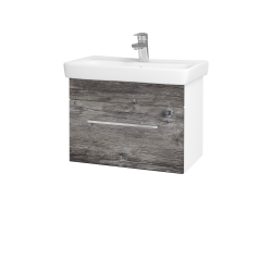 Dreja - Kúpeľňová skriňa SOLO SZZ 60 - N01 Bílá lesk / Úchytka T04 / D10 Borovice Jackson (205706E)