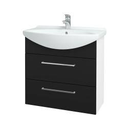 Dreja - Kúpeľňová skriňa TAKE IT SZZ2 75 - N01 Bílá lesk / Úchytka T04 / N08 Cosmo (207717E)