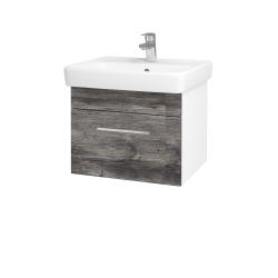 Dreja - Kúpeľňová skriňa Q UNO SZZ 55 - N01 Bílá lesk / Úchytka T04 / D10 Borovice Jackson (208301E)