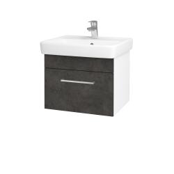 Dreja - Kúpeľňová skriňa Q UNO SZZ 55 - N01 Bílá lesk / Úchytka T04 / D16 Beton tmavý (208325E)