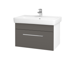 Dreja - Kúpeľňová skriňa Q UNO SZZ 70 - N01 Bílá lesk / Úchytka T04 / N06 Lava (208776E)