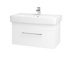 Dreja - Kúpeľňová skriňa Q UNO SZZ 80 - N01 Bílá lesk / Úchytka T04 / M01 Bílá mat (208943E)