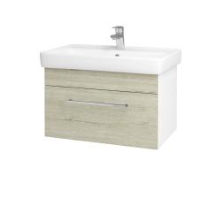Dreja - Kúpeľňová skriňa Q UNO SZZ 70 - N01 Bílá lesk / Úchytka T04 / D05 Oregon (23709E)