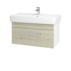 Dreja - Kúpeľňová skriňa Q UNO SZZ 80 - N01 Bílá lesk / Úchytka T04 / D05 Oregon (23716E)