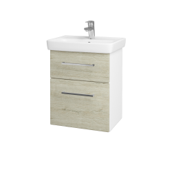Dreja - Kúpeľňová skriňa GO SZZ2 50 - N01 Bílá lesk / Úchytka T04 / D05 Oregon (27974E)