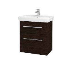 Dreja - Kúpeľňová skriňa GO SZZ2 55 - D08 Wenge / Úchytka T04 / D08 Wenge (28193E)