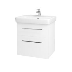 Dreja - Kúpeľňová skriňa Q MAX SZZ2 60 - N01 Bílá lesk / Úchytka T04 / L01 Bílá vysoký lesk (60117E)
