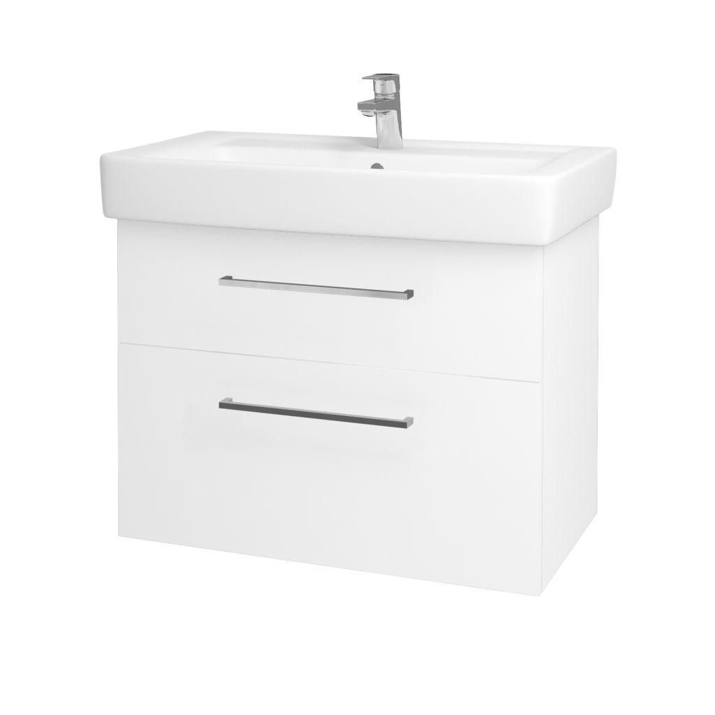 Dreja - Kúpeľňová skriňa Q MAX SZZ2 80 - N01 Bílá lesk / Úchytka T04 / L01 Bílá vysoký lesk 60193E