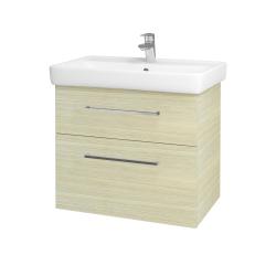 Dreja - Kúpeľňová skriňa Q MAX SZZ2 70 - D04 Dub / Úchytka T04 / D04 Dub (60407E)