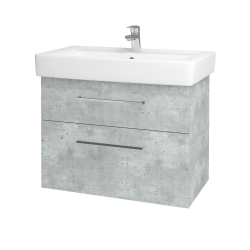 Dreja - Kúpeľňová skriňa Q MAX SZZ2 80 - D01 Beton / Úchytka T04 / D01 Beton (67543E)