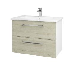 Dreja - Kúpeľňová skriňa GIO SZZ2 80 - N01 Bílá lesk / Úchytka T04 / D05 Oregon (81952E)