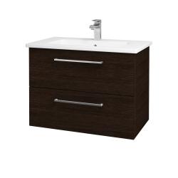 Dreja - Kúpeľňová skriňa GIO SZZ2 80 - D08 Wenge / Úchytka T04 / D08 Wenge (82089E)