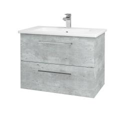 Dreja - Kúpeľňová skriňa GIO SZZ2 80 - D01 Beton / Úchytka T04 / D01 Beton (82096E)