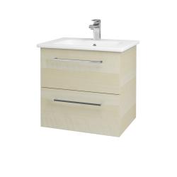 Dreja - Kúpeľňová skriňa GIO SZZ2 60 - D02 Bříza / Úchytka T04 / D02 Bříza (82911E)