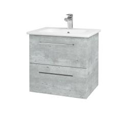 Dreja - Kúpeľňová skriňa GIO SZZ2 60 - D01 Beton / Úchytka T04 / D01 Beton (82935E)
