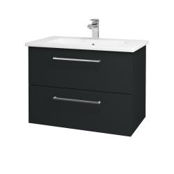 Dreja - Kúpeľňová skriňa GIO SZZ2 80 - L03 Antracit vysoký lesk / Úchytka T04 / L03 Antracit vysoký lesk (82997E)