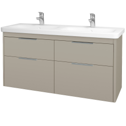 Dreja - Kúpeľňová skriňa ENZO SZZ4 130 - M05 Béžová mat / M05 Béžová mat (187972)