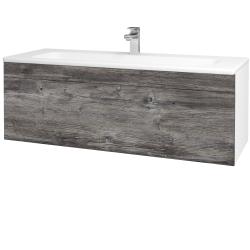 Dreja - Kúpeľňová skriňa ASTON SZZ 120 - N01 Bílá lesk / Úchytka T05 / D10 Borovice Jackson (109448F)