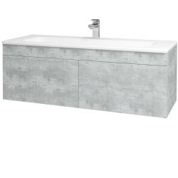 Dreja - Kúpeľňová skriňa ASTON SZZ2 120 - D01 Beton / Úchytka T05 / D01 Beton (131517F)