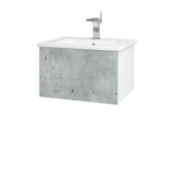 Dreja - Kúpeľňová skriňa VARIANTE SZZ 60 (umývadlo Euphoria) - N01 Bílá lesk / D21 Tobacco (258092)