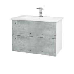 Dreja - Kúpeľňová skriňa VARIANTE SZZ2 80 (umývadlo Euphoria) - N01 Bílá lesk / D21 Tobacco (258580)