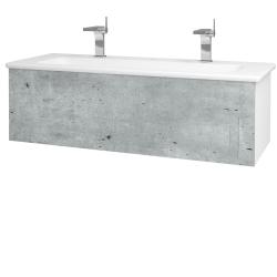 Dreja - Kúpeľňová skriňa VARIANTE SZZ 120 (umývadlo Euphoria) - N01 Bílá lesk / D21 Tobacco (258733U)