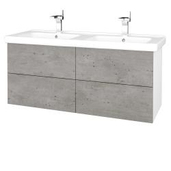 Dreja - Kúpeľňová skriňa VARIANTE SZZ4 125 (umývadlo Harmonia) - N01 Bílá lesk / D20 Galaxy (259105)