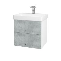 Dreja - Kúpeľňová skriňa VARIANTE SZZ2 60 - N01 Bílá lesk / D21 Tobacco (259242)