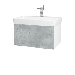 Dreja - Kúpeľňová skriňa VARIANTE SZZ 70 - N01 Bílá lesk / D21 Tobacco (259280)