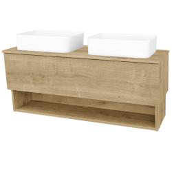 Dreja - Kúpeľňová skriňa INVENCE SZZO 125 (2 umývadlá Joy) - L03 Antracit vysoký lesk / L03 Antracit vysoký lesk (326357)