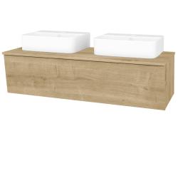Dreja - Kúpeľňová skriňa INVENCE SZZ 125 (2 umývadlá Joy 3) - L03 Antracit vysoký lesk / L03 Antracit vysoký lesk (327194)