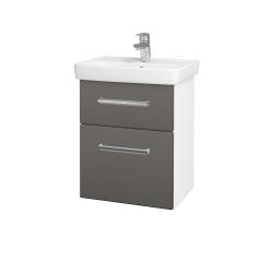 Dreja - Kúpeľňová skriňa GO SZZ2 50 - N01 Bílá lesk / Úchytka T04 / D21 Tobacco (278830E)